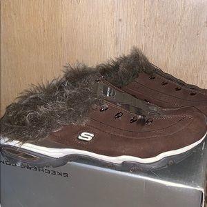 Skechers slip-on gym shoes